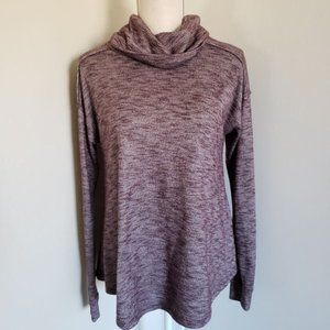 Women's Cowl Neck Keyhole Pullover Sweater Small